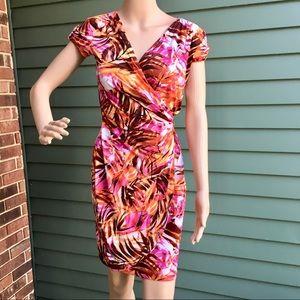 Cache Spring Print Wrap Dress